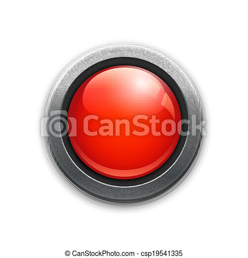 Large red button - csp19541335