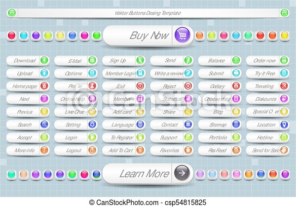 Large Set of Buttons for the Site