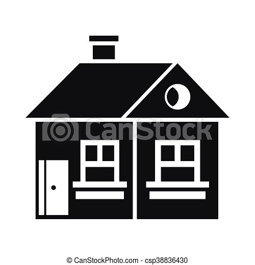 Large Single Storey House Icon Simple Style Vector