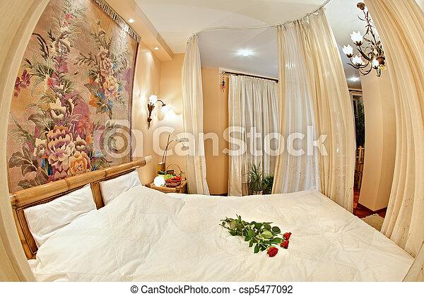 large style angle moyen ge lit chambre coucher photo de stock rechercher images et. Black Bedroom Furniture Sets. Home Design Ideas