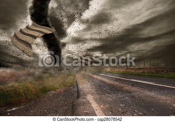Large Tornado disaster - csp28078542