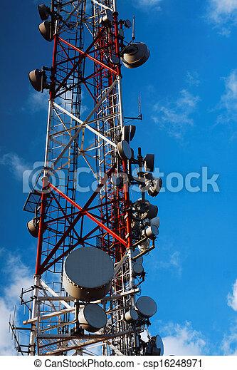 Large transmission tower - csp16248971