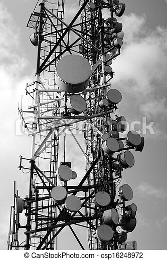 Large transmission tower - csp16248972