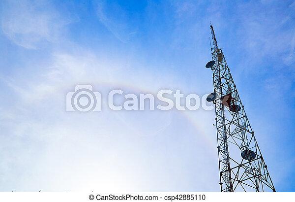 Large transmission tower - csp42885110