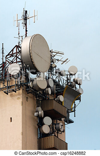 Large transmission tower - csp16248882