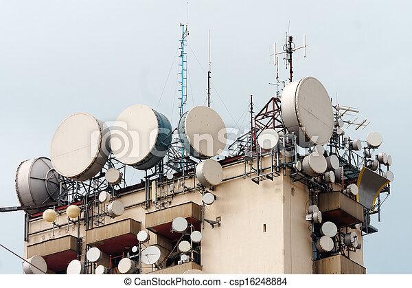 Large transmission tower - csp16248884