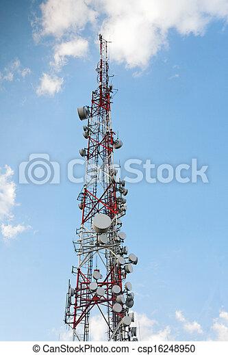 Large transmission tower - csp16248950