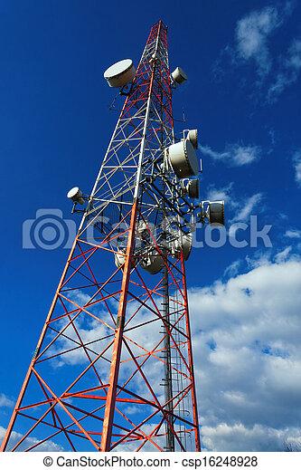 Large transmission tower - csp16248928