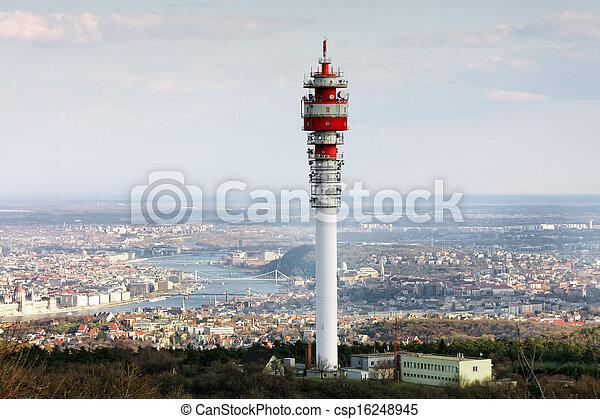 Large transmission tower - csp16248945