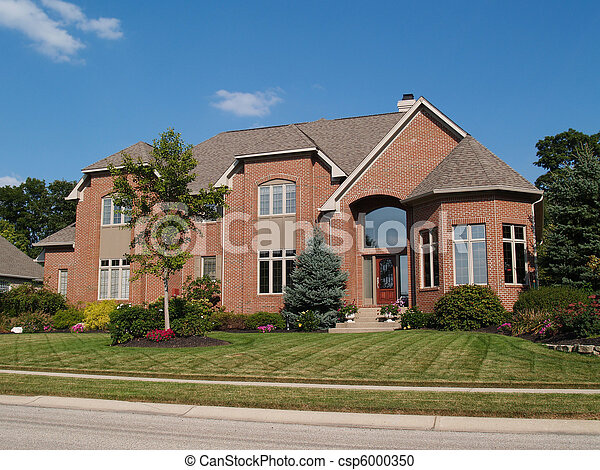 Large Two Story New Brick Home - csp6000350