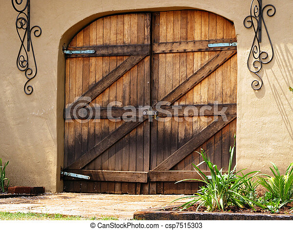 Large Wooden Barn Doors Picture Of Large Double Wooden Locked Barn