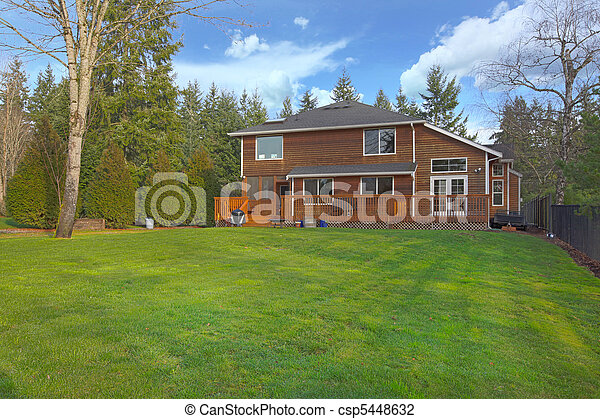 Large yard and a cute wood two story home - csp5448632