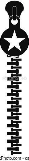 Large zip icon, simple style - csp54813974