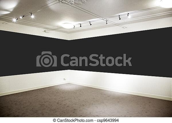 largo, arte, panel., gallery., nero, orizzontale - csp9643994