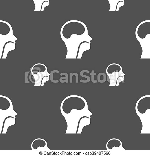larynx, Medical Doctors Otolaryngology sign. Seamless pattern on a gray background. Vector - csp39407566