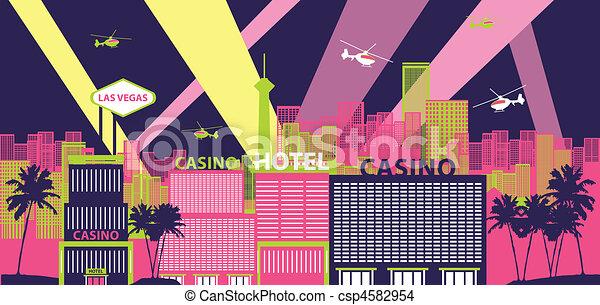 Las Vegas Cityscape - csp4582954