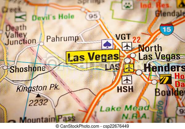 Map photography las vegas city on a road map stock photo Search