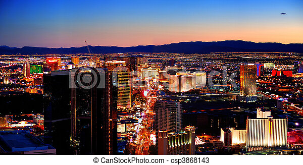 Las Vegas City Skyline panorama - csp3868143