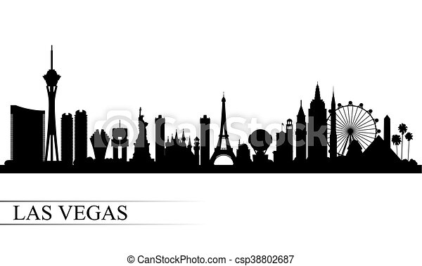 Las Vegas city skyline silhouette background - csp38802687