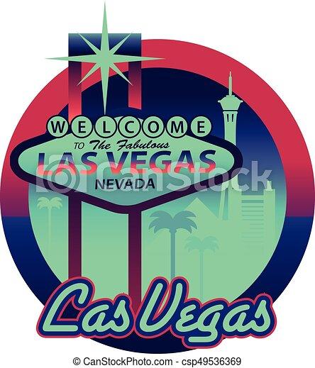 Las Vegas-Schild - csp49536369
