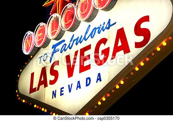 Las Vegas neon sign - csp0355170