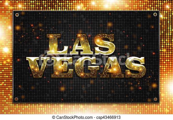 Señal de las Vegas parpadeando - csp43466913
