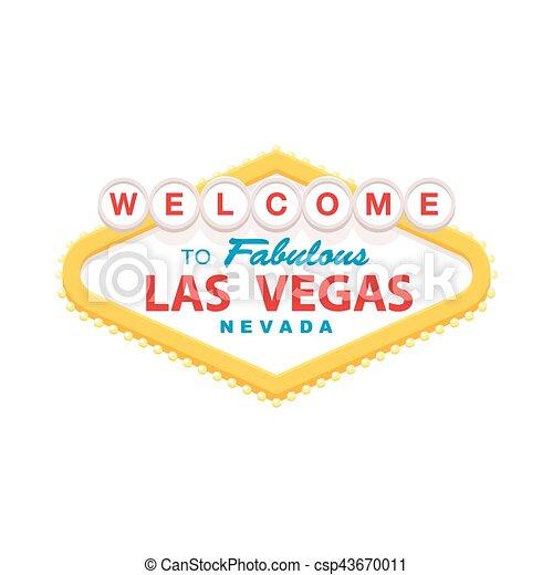 Bienvenidos a la señal de Las Vegas - csp43670011