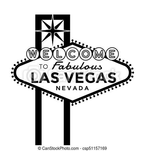 Bienvenidos a la señal de Las Vegas - csp51157169