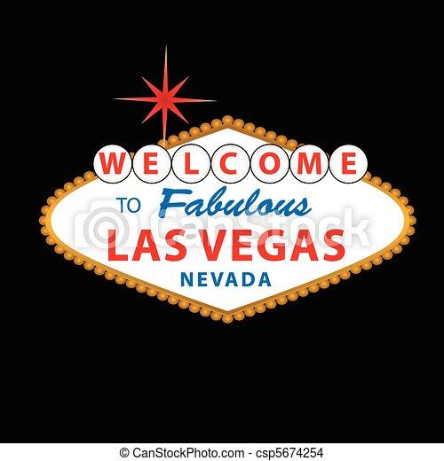 Bienvenidos al signo de Las Vegas - csp5674254
