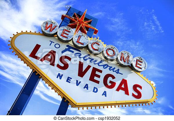 Bienvenidos al signo de Las Vegas - csp1932052