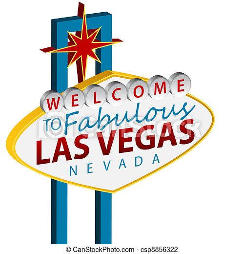 Bienvenidos al signo de Las Vegas - csp8856322