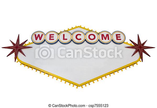 Las Vegas Sign - csp7555123