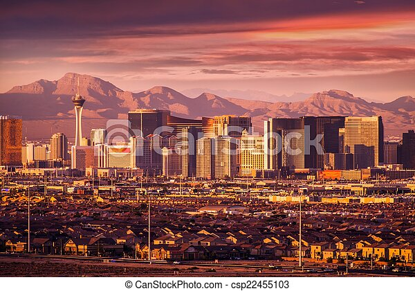 Las Vegas Strip Skyline - csp22455103
