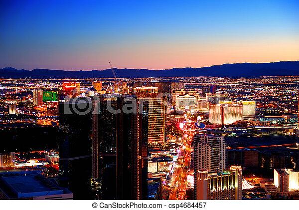 Las Vegas sunset - csp4684457