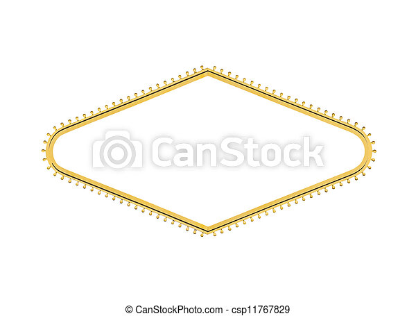 Las Vegas Welcome Sign Light Bulb Diamond Cut Out - csp11767829