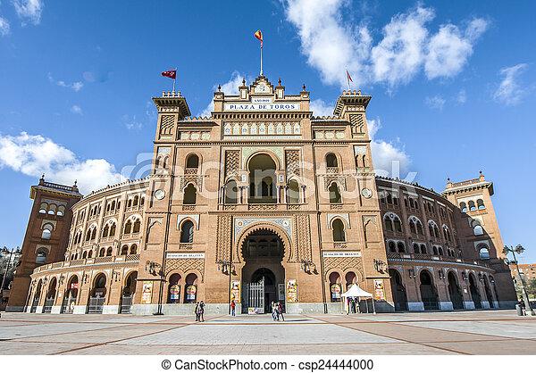Las Ventas Bullring in Madrid, Spain. - csp24444000