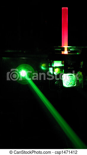laser installation with ruby rod - csp1471412