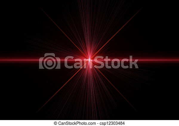 Laser rays  - csp12303484