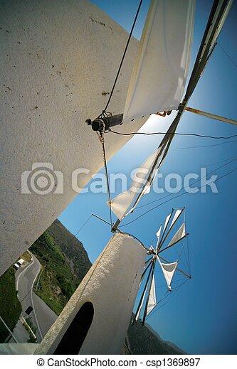 Lasithi Windmills - csp1369897