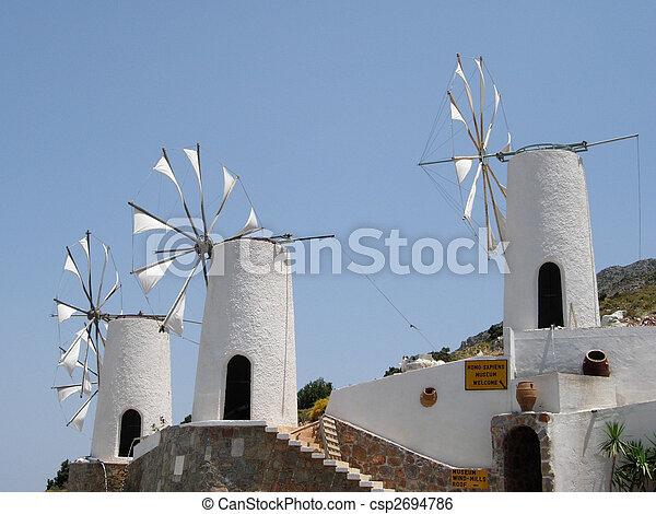 Lasithi Windmills - csp2694786