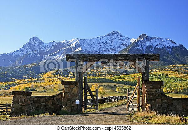Last dollar road, Colorado - csp14535862