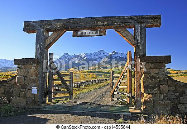 Last dollar road, Colorado - csp14535844