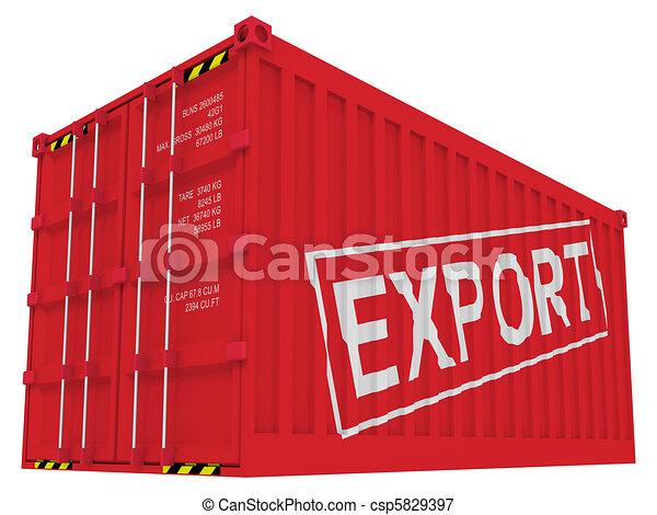 last, eksporter, hvid, beholder, isoleret - csp5829397
