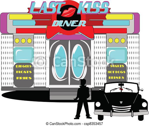 last kiss diner  - csp8353457