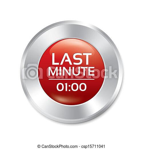 Last minute button. Special offer icon (sticker) - csp15711041