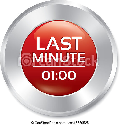 Last minute button. Special offer icon (sticker) - csp15650525