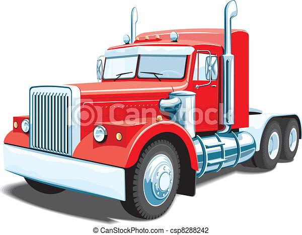 lastbil, halv- - csp8288242