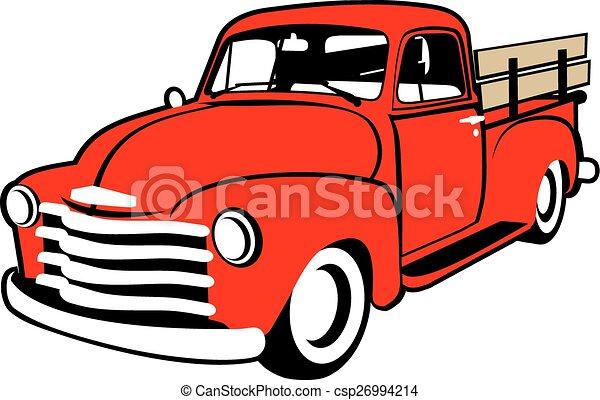 lastbil, illustration - csp26994214