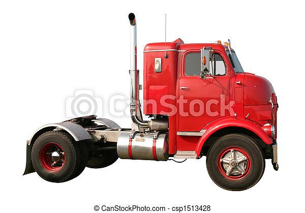 lastbil, næse, affeje - csp1513428