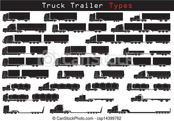 lastbil, slagen, släpvagn - csp14399762